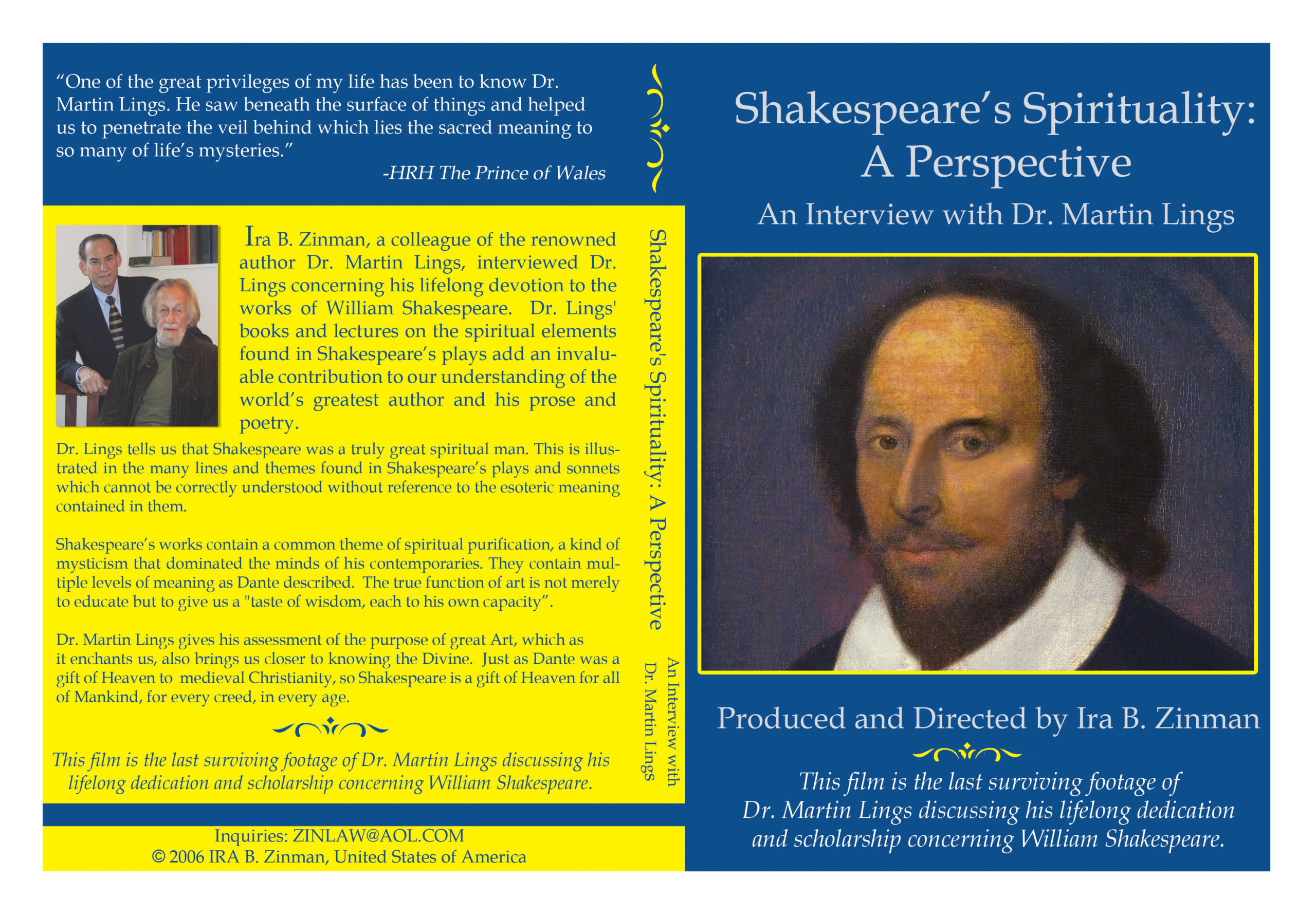 Shakespeare's Spirituality: A Perspective: An Interview With Dr. Martin Lings